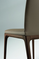 Arcadia High Back Soft Leather Dining Chair