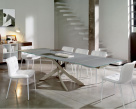 Artistico  Extending Dining Table - Metal Base