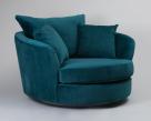 Boss Swivel Chair - Lumino Teal Fabric
