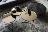 Billy Keramik Coffee Table - Brushed Bronze and Keramik