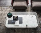Biplane Coffee Table - Clear Glass