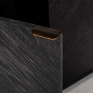 Milo Bookcase Brushed Brass Handles