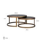 Milo Coffee Table - Size