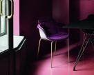 Mood Metal Leg Dining Chair - Velvet Finish