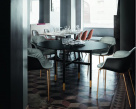 Mood Metal Leg Dining Chair - Eco Leather