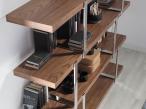Chrome bookcase