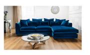 Boss Velvet Fabric Deep Corner Sofa