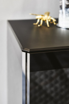 Boutique Sideboard - Black Painted Glass Top