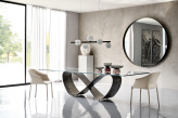 Buterfly Glass Dining Table by Cattelan Italia