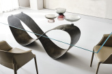 Buterfly Glass Top Dining Table