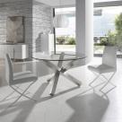 Eclipse Dining Table - Clear Glass Table Top