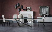 Cattelan Italia Skorpio Glass Dining Table