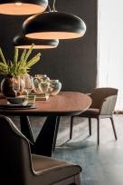 Skorpio Wood Dining Table - Shaoped Edge