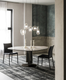 Cattelan Italia Skyline Shaped Round Top Dining Table