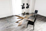 Cattelan Italia Spyder Dining Table Wood Base - Top View