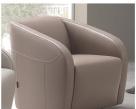 Charlotte Designer Italian Leather Swivel Chair