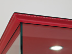 Charme Glazed Cabinet - leather top