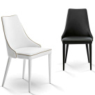 Clara White and Black Dining Chairs