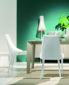 Clara White Leather Dining Chair
