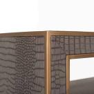 Fabian Vegan Leather Console Table