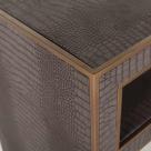 Fabian Vegan Designer Leather Console Table