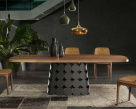 Connect Dining Table - Canaletto Walnut Top