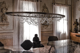 Cristal Designer Ceiling Light - Side View