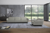 Duffy Large Italian Leather Sofa