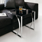 Ditra Side Table - Black Top