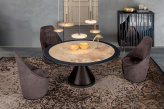 Dolly Round Top Ceramic Dining Table