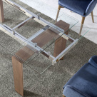 Baron Extending Dining Table - Stainless Steel Mechanism
