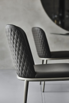 Magda ML Couture Dining Chair with Quilted Back