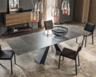Edward Drive Keramik Extending Dining Table - Fokos Lead Ceramic Top View
