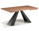 Edward Drive Wood Extending Table - Close Up View