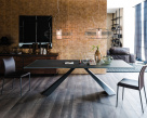 Edward Glass Dining Table - Graphite Base