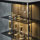 Boutique Alta Display Cabinet with Quilted Back