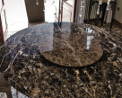 Edward Round Marble Dining Table - Lazy Susan in Emperador Marble