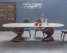 Spirio Large Dining Table - Canaletto Walnut Base - Lifestyle