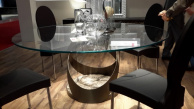 Flame Dining Table Marble Base - Real Life 1