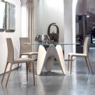 Gia Dining Table - Matt White Base
