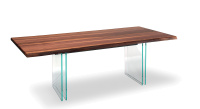 Ikon Wood Top Dining Table - Canaletto Walnut Top