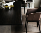 Ikon Wood Top Dining Table - Edge