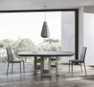 Imperial Extending Glass Dining Table - Closed Leafs