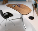 Island Wood Desk - Canaletto Walnut