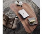 Island Wood Top Office Desk - Birdseye View