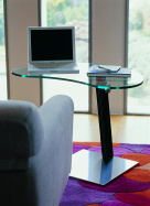 Lap Glass Side Table