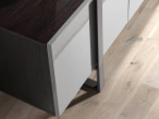 Linea TV Unit - Black Steel Frame