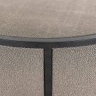 Lustrio Side Table - Shagreen Faux Leather