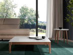 Marcus Walnut Base Coffee Table