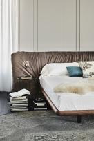 Marlon Bed - Argilla Synthetic Nubuck Fabric